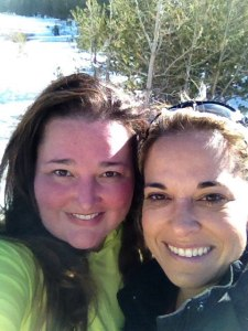 Liz & I after a 5-mile snowshoeing adventure.